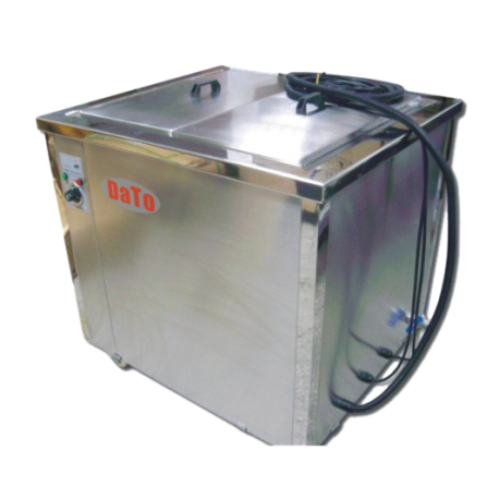 Attractive woman ultrasonic cleaning machine